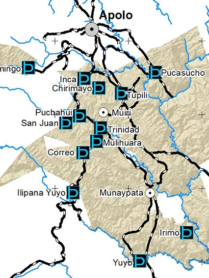 Mapa Agua Pueblo LECO de Apolo