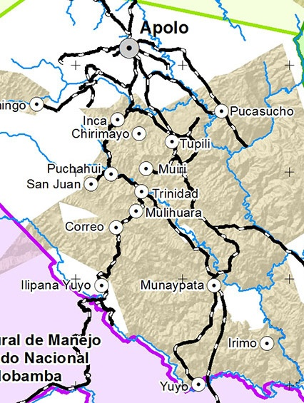 Mapa APS Pueblo LECO de Apolo
