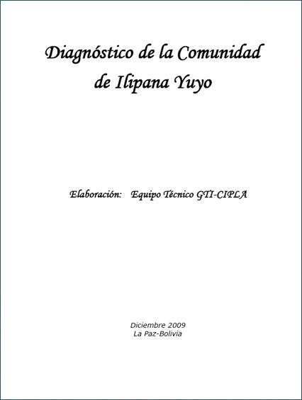 Comunidad de Ilipana Yuyo